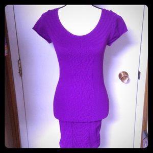 Bebe Purple Super Sexy Stretchy Bodycon Dress